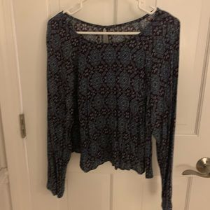 ADORABLE PATTERED BLOUSE